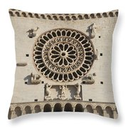Closeup Of Assisi Cathedral Throw Pillow