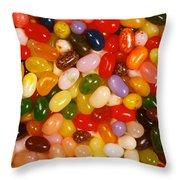 Closeup Of Assorted Jellybeans  Throw Pillow
