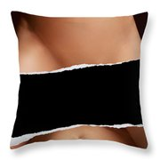 Closeup Of Couple Making Love With Copyspace Throw Pillow