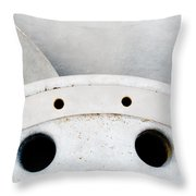 Closeup Of Metal Hydroelectric Turbine Rotor Throw Pillow