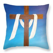 Cloth Of Christ Throw Pillow