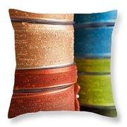 Cloth Ribbons Throw Pillow