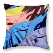 Clothes Street Sale Throw Pillow
