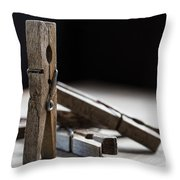 Clothespins Throw Pillow by Edward Fielding