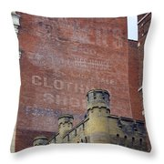 Classic Cincinnati Architecture Throw Pillow