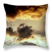 Golden Cloud Throw Pillow
