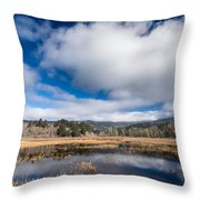 Cloud Above Dry Lagoon Throw Pillow