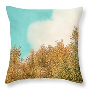 Cloud And Birches Throw Pillow