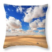 Cloudscape At Sahara Desert Throw Pillow