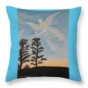 Cloud Angel In Acryics Throw Pillow