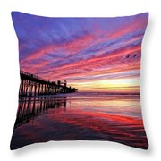 Cloud Color Waves Throw Pillow