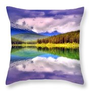 Cloud Cover On Lake Patricia Throw Pillow