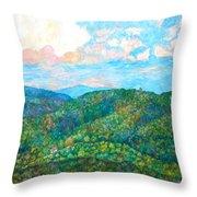 Cloud Dance On The Blue Ridge Throw Pillow