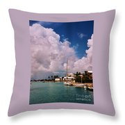 Cloud Faces Over St. George's, Bermuda Throw Pillow
