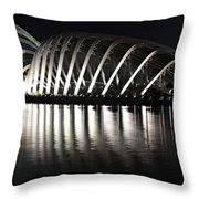 Cloud Forest And Flower Dome Throw Pillow