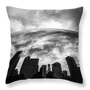 Cloud Gate Chicago Bean Throw Pillow by Paul Velgos