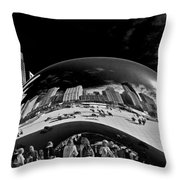 Cloud Gate Chicago - The Bean Throw Pillow by Christine Till