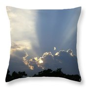 Cloud Glow Throw Pillow