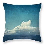 Cloud Over Island Throw Pillow
