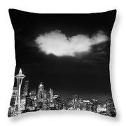 Cloud Over Seattle - Vertical Throw Pillow