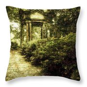 Cloud Pavilion Tinted Copper Throw Pillow