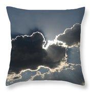 Cloud Rays Throw Pillow