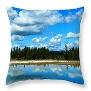 Cloud Reflections Throw Pillow