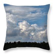 cloud scape sep 2014- Blue sky and clouds  Throw Pillow