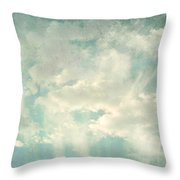 Cloud Series 1 Of 6 Throw Pillow by Brett Pfister