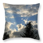 Cloud Shadows Throw Pillow