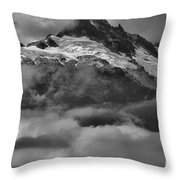 Cloud Smothered Peaks Throw Pillow