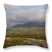 Cloud Streaming Across The Summit Of Pen-y-ghent Ribblesdale North Yorkshire England Throw Pillow