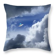 Cloud Surfing Throw Pillow