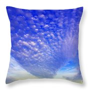 Cloud Tails At Sunrise Throw Pillow