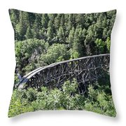 Cloudcroft Railroad Trestle Throw Pillow