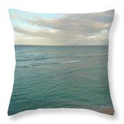 Clouded Sea Throw Pillow
