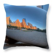 Cloudgate City Throw Pillow