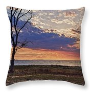 Clouding Up On Oyster Bay Throw Pillow
