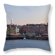 Cloudless Portsmouth Skyline Throw Pillow