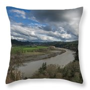 Clouds Above Eel River Throw Pillow