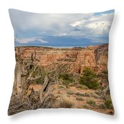 Clouds Above Throw Pillow