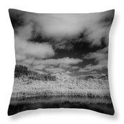 Clouds Above Klamath Throw Pillow