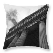 Clouds Above St Pauls Cathedral Throw Pillow