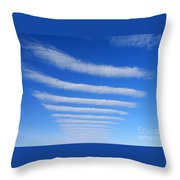 Clouds. Throw Pillow by Alexandr  Malyshev