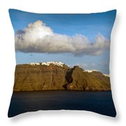 Clouds And Cliffs Throw Pillow