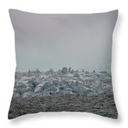 Clouds And Ice Throw Pillow