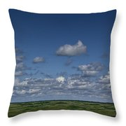 Clouds And Landscape In Alberta Canada Throw Pillow