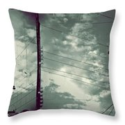 Clouds And Power Lines Throw Pillow