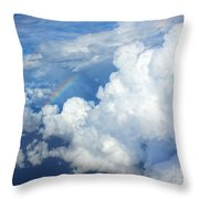 Clouds And Rainbow Throw Pillow