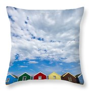 Clouds And Sheds Throw Pillow